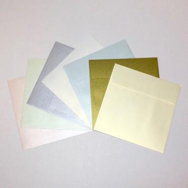 Envelope CURIOUS METALLIC 17 x 17 cm 120 gsm - DIFFERENT COLORS