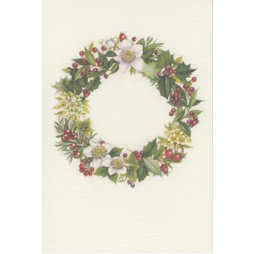 Card and envelope ROSSI 240 gsm 11,5 x 17 cm - Christmas Wreath