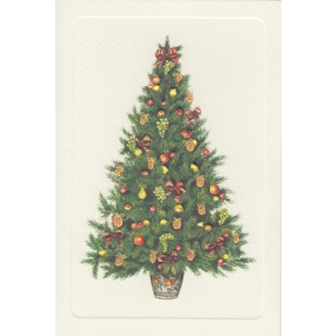 Card and envelope ROSSI 240 gsm 11,5 x 17 cm - Christmas tree