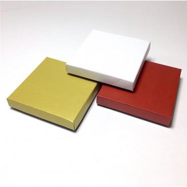 Box 14,5 x 14,5 x 3 cm COLORED 5 Pcs. - DIFFERENT VARIATIONS