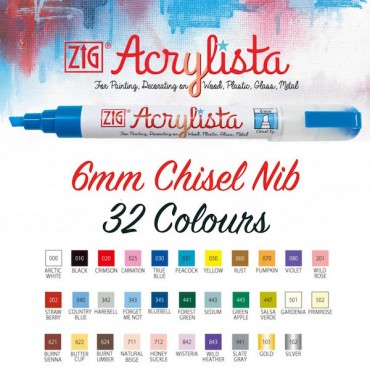 ACRYLISTA Chisel 6 mm - DIFFERENT COLORS