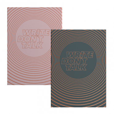 "Notebook MEDIUM ""Write, don't talk"" 80 gsm 14,5 x 21 cm (A5) 249 dotted sheets - DIFFERENT COLORS"