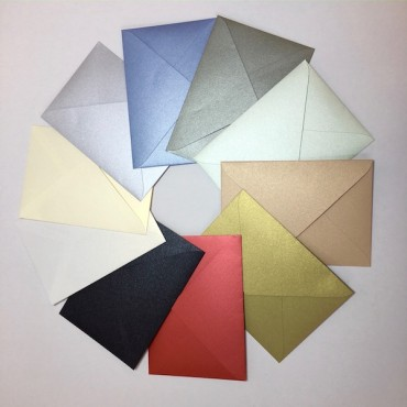 Envelope CURIOUS METALLIC C65 11 x 22 cm 120 gsm 10 Pieces - DIFFERENT COLORS