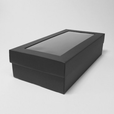 Box WINE 18 x 34 x 9 cm, window - Black