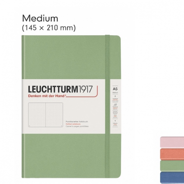 Notebook MEDIUM PASTEL 80 gsm 14,5 x 21 cm (A5) 249 Sheets DOTTED - DIFFERENT COLORS