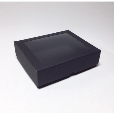 Gift Box 12 x 14,5 x 4 cm WINDOW - Black cardboard