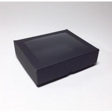 Gift Box 12 x 14,5 x 4 cm WINDOW - Black cardboard