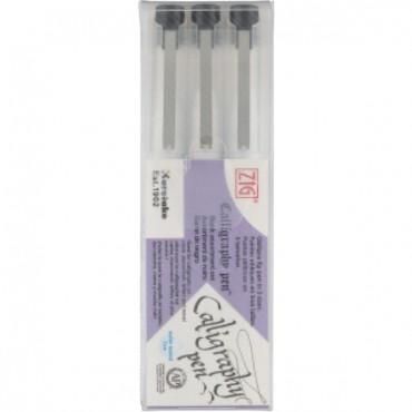 CALLIGRAPHY PEN Oblique Tip 3 pcs Assortment set - Black