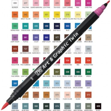 Sketching pen ART & GRAPHIC Twin - DIFFERENT COLORS