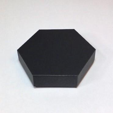 Box  HEXAGON 15x17x4 cm - Black