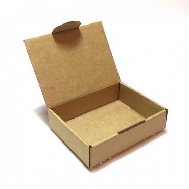 Flat box ZELLULOOS 8 x 11 x 3 cm - Brown