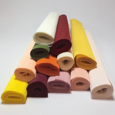 Crepe paper CLASSIC STRETCH 500% 120 gsm 50 x 150 cm - DIFFERENT COLORS