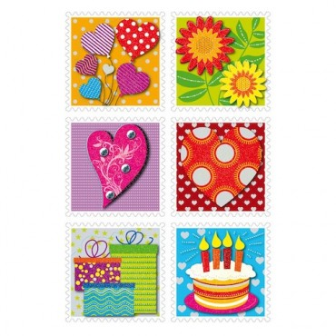 Labels DECORATIVE 8 x 12 cm 1 sheet - 3659