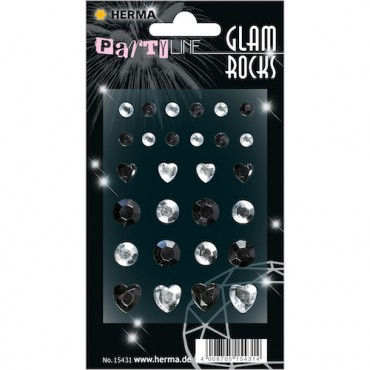 Glam rocks diamonds 7 x 9,5 cm 1 sheet - 15431