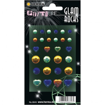 Glam rocks diamonds 7 x 9,5 cm 1 sheet - 6646