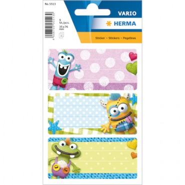 Labels SCHOOL 8 x 12 cm 3 sheets - 5513