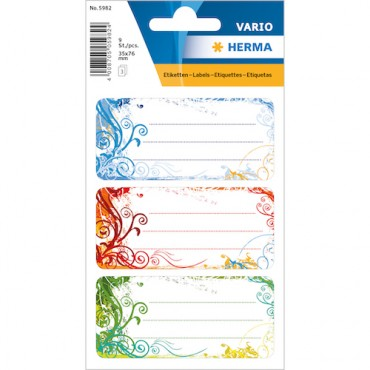 Labels SCHOOL 8 x 12 cm 3 sheets - 5982