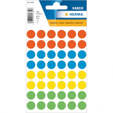 Multi-purpose labels 8 x 12 cm 5 sheets - 1851
