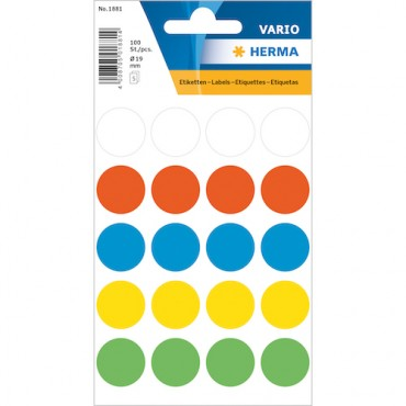 Multi-purpose labels 8 x 12 cm 5 sheets - 1881