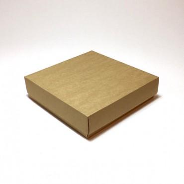 Gift Box 20 x 20 x 5 cm - Brown cardboard