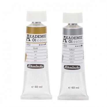 Oil colour AKADEMIE metallic 60 ml - DIFFERENT COLORS