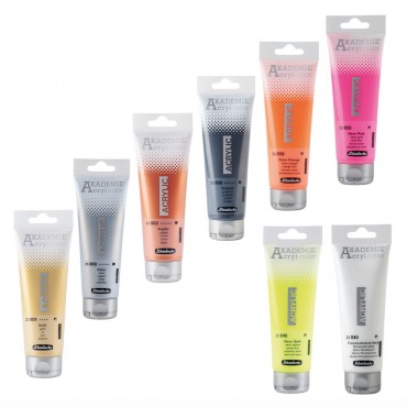 Acryl colour AKADEMIE metallic/neon 120 ml - DIFFERENT COLORS