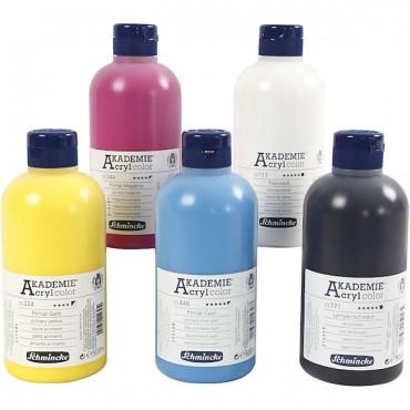 Acryl colour AKADEMIE 500 ml - DIFFERENT COLORS