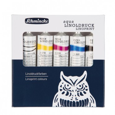 Linol colour set aqua LINOPRINT 5 x 20 ml