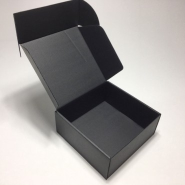 Box from corrugated cardboard 16,5 x 16,5 x 7 cm - Black