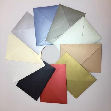 Envelopes CURIOUS METALLICS 9 x 14 cm 10 pcs - DIFFERENT COLORS