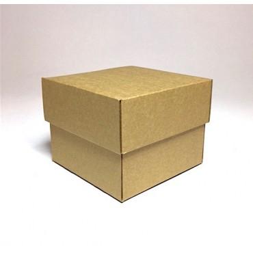 Flat box ZELLULOOS 13 x 13 x 10 cm - Brown