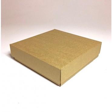 Flat box ZELLULOOS 20 x 20 x 5,5 cm 25 Pc. - Brown
