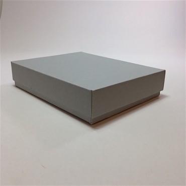 Archival storage box 19 x 24 x 5 cm - Grey/white