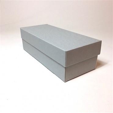 Archival storage box 12 x 28 x 8,5 cm - Grey/white