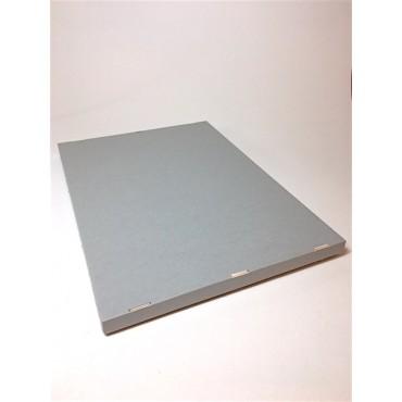 Archival storage box 40 x 55 x 3 cm - Grey/white