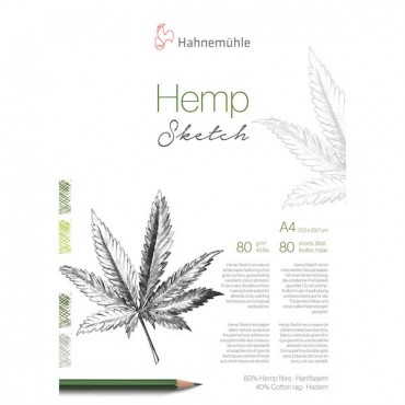 Sketch pad HEMP SKETCH 80 gsm A4 80 Sheets - Natural white