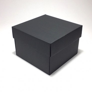Flat box ZELLULOOS 19 x 19 x 13 cm 25 Pc. - Black