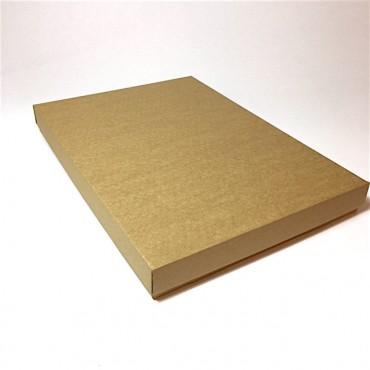 Flat box ZELLULOOS 31 x 42 x 4,5 cm - Brown