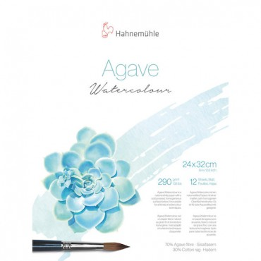 Watercolour pad AGAVE 290 gsm 24 x 32 cm matt 12 Sheets - Natural white