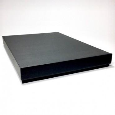 Flat box ZELLULOOS 31 x 42 x 4,5 cm - Black