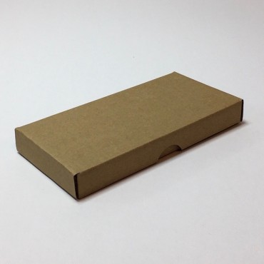 Flat box ZELLULOOS 8 x 18 x 2 cm 25 pcs. - Brown