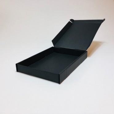 Box from corrugated cardboard  15,5 x 21,5 x 2,8 cm 25 Pcs. - Black