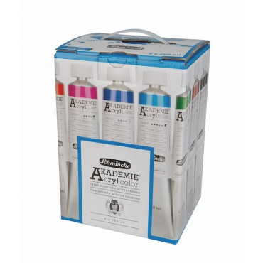 Acryl colour set AKADEMIE 9 x 200 ml