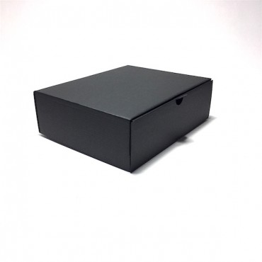 Box 21 x 25 x 8 cm 25 pcs. - Black cardboard