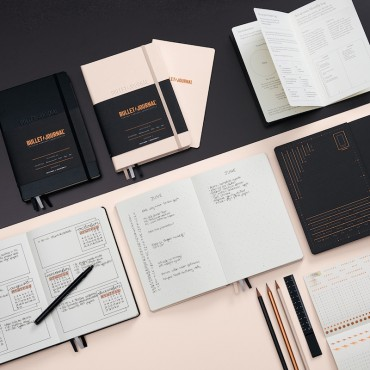 Notebook BULLET & JOURNAL 120 gsm 14,5 x 21 cm (A5) 206 dotted sheets - DIFFERENT COLORS