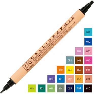 Pigment Marker Calligraphy II 2,0 / 3,5 mm - DIFFERENT COLORS