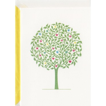 Card and envelop BOHEMIA 2-sided A6 - Love Tree