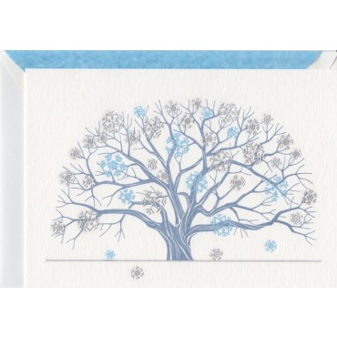Card and envelop BOHEMIA 2-sided A6 - Winter Tree