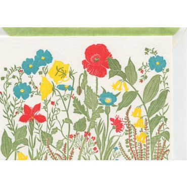 Card and envelop BOHEMIA 2-sided A6 - Summer Meadow
