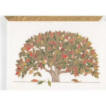 Card and envelop BOHEMIA 2-sided A6 - Autumn Tree